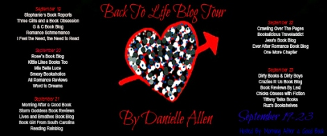 Back To Life Blog Tour Banner