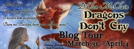 Dragon's Don't Cry Blog Tour Banner